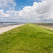 On the Levee at the North Sea — Stock Photo