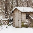 Hut in a garden in winter — Stock Photo #46150333
