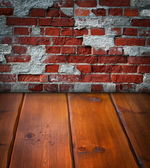 Old wooden dark scene — Stock Photo