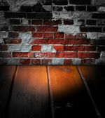 Old wooden dark scene — Stock Photo