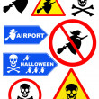 Signpost halloween collection — Stock Photo #13175122
