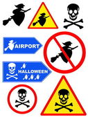 Signpost halloween collection — Stock Photo