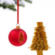 Golden happy tree - Stock Photo