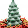Christmas tree and gifts — Stock Photo #1746778