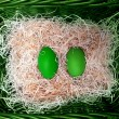 Green easter egss — Stock Photo