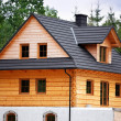 Wooden cottage — Stock Photo