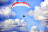 Sky paragliding — Stock Photo