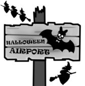 Halloween signpost — Stock Photo