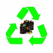Recycling and renewable energy sources — Stock Photo