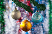 Girlanger till julgran — Stockfoto