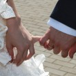 Hands of the groom and the bride — Stock Photo #1781862