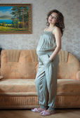 Young beautiful pregnant woman — Stok fotoğraf