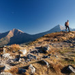 Stock Photo: Hiker in Tatras Mountains