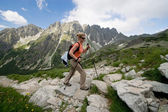Hiking in Tatra Mountains, Slovakia — Stock Photo