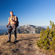 Adult hiker at Ornak Peak, Tatra Mountains, Poland - Stock Photo