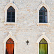 Windows in Budva Old Town, Montenegro - Stock Photo