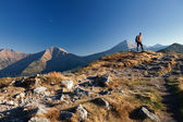 Hiker in Tatras Mountains — Foto Stock