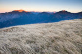 Sunset high Tatras peaks, Poland — Stock Photo