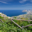 Coastline view from Erice Town - Stock Photo