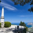 Monument in Erice medieval town, Sicily - Stock Photo