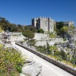 Medieval Castle in Erice, Italy - Stock Photo