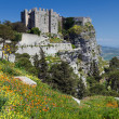 Medieval Castle, Erice, Sicily - Stock Photo
