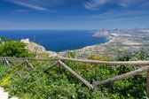 Coastline view from Erice Town — Foto Stock