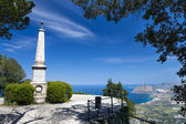 Monument in Erice medieval town, Sicily — Stock Photo