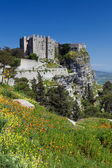 Medieval Castle, Erice, Sicily — Stock Photo