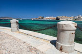Favignana haven zicht — Stockfoto