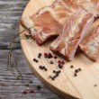 Smoked pork ribs — Stock Photo