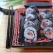 Stock Photo: Sushi with salmon