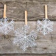 Stock Photo: Christmas decorations (snowflake)