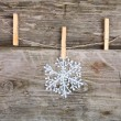 Christmas decorations (snowflake) — Stock Photo #13350406