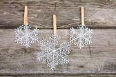 Christmas decorations (snowflake) — Stock Photo