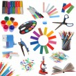 Set of school accessories — Stock Photo