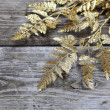 Christmas decorations - golden twig — Stock Photo