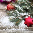 Red Christmas decoration — Stock Photo #13639291