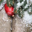 Red Christmas decoration — Stock Photo