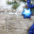 Blue Christmas decorations — Stockfoto