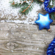 Blue Christmas decorations — Stock Photo #13639297