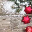 Red Christmas decorations — Stock Photo #13785429