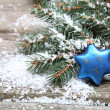 Blue Christmas decorations - Stockfoto