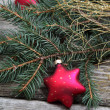 Red Christmas decorations — Stock Photo #13954408