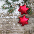 Red Christmas decorations - 图库照片