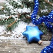 Blue Christmas decorations — Stock Photo #13954419