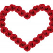 Red roses Heart shape — Stockfoto #14101284