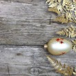 Golden twig and ball — Stock Photo #14101364