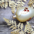 Golden twig and ball -  
