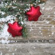 Red Christmas decorations - Stok fotoraf